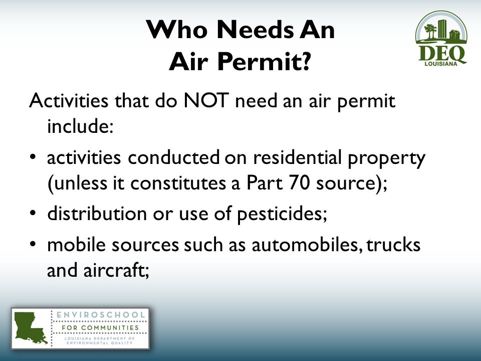 Who Needs An Air Permit.