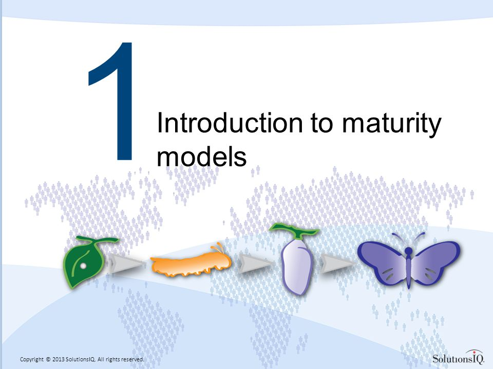Copyright © 2013 SolutionsIQ. All rights reserved. 1 Introduction to maturity models