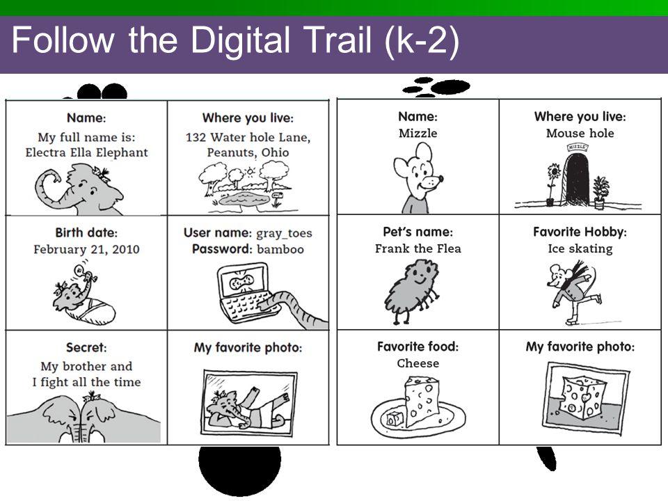 Follow the Digital Trail (k-2)