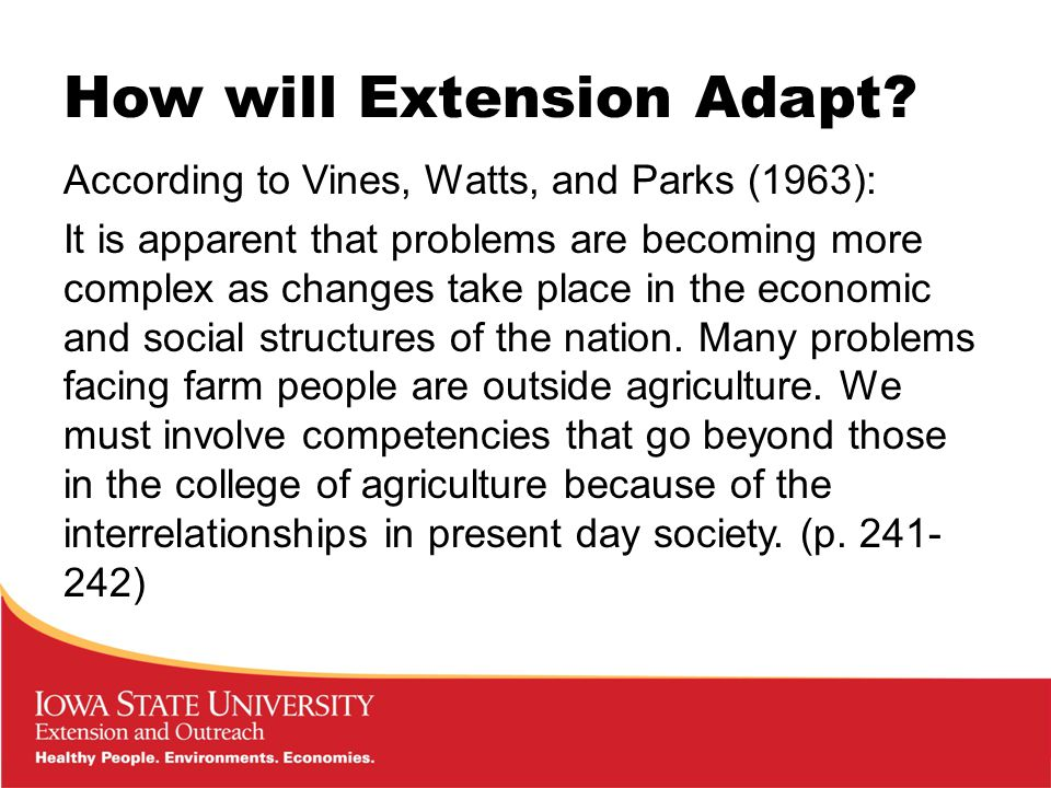 How will Extension Adapt.