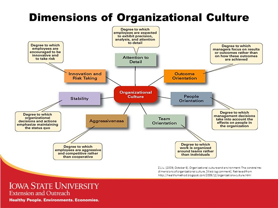 Dimensions of Organizational Culture Z Liu. (2009, October 6).