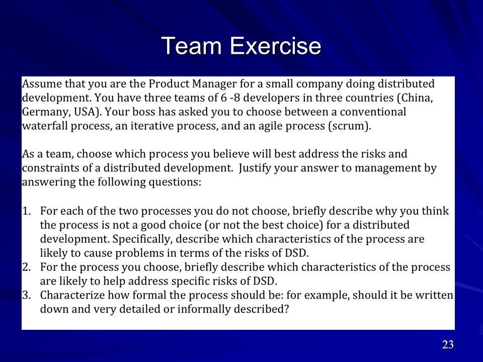 Team Exercise 23