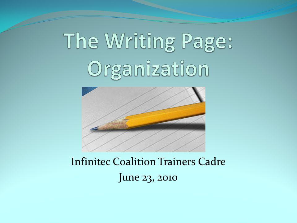 Infinitec Coalition Trainers Cadre June 23, 2010