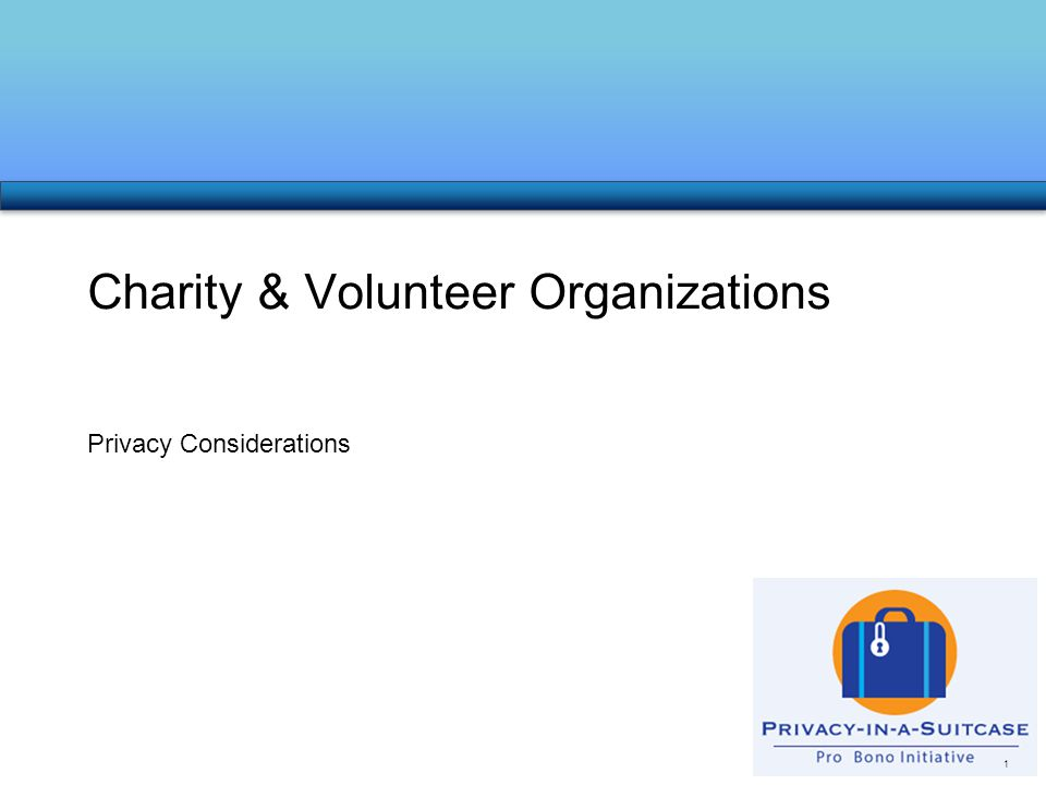 Privacy Considerations Charity & Volunteer Organizations 1