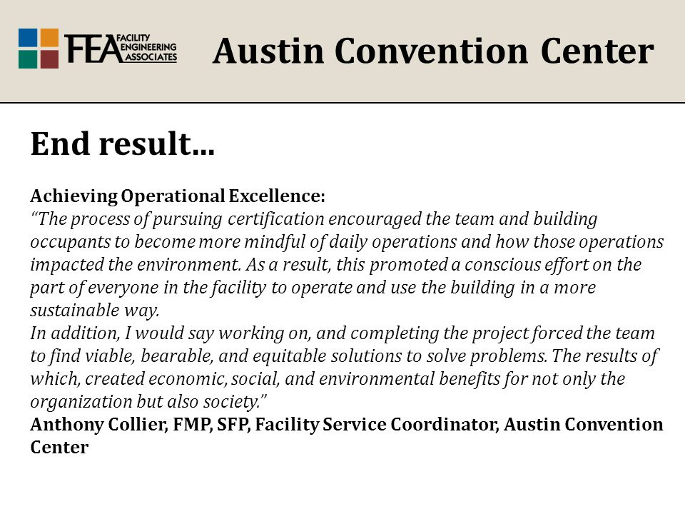Austin Convention Center End result...