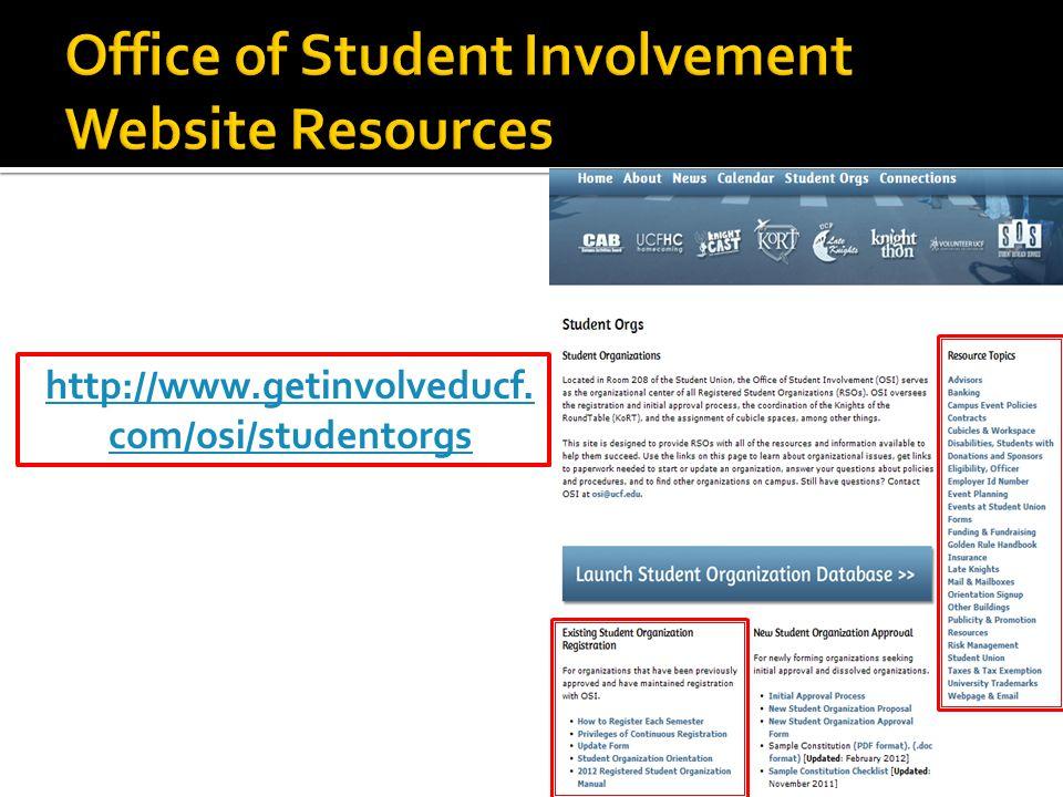 http://www.getinvolveducf. com/osi/studentorgs
