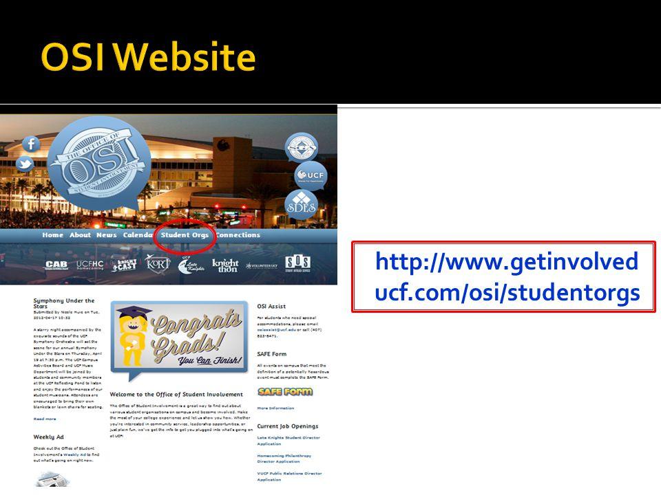 http://www.getinvolved ucf.com/osi/studentorgs