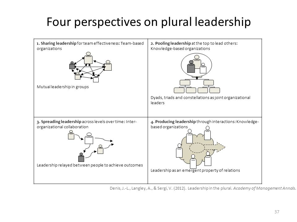 Four perspectives on plural leadership 1.
