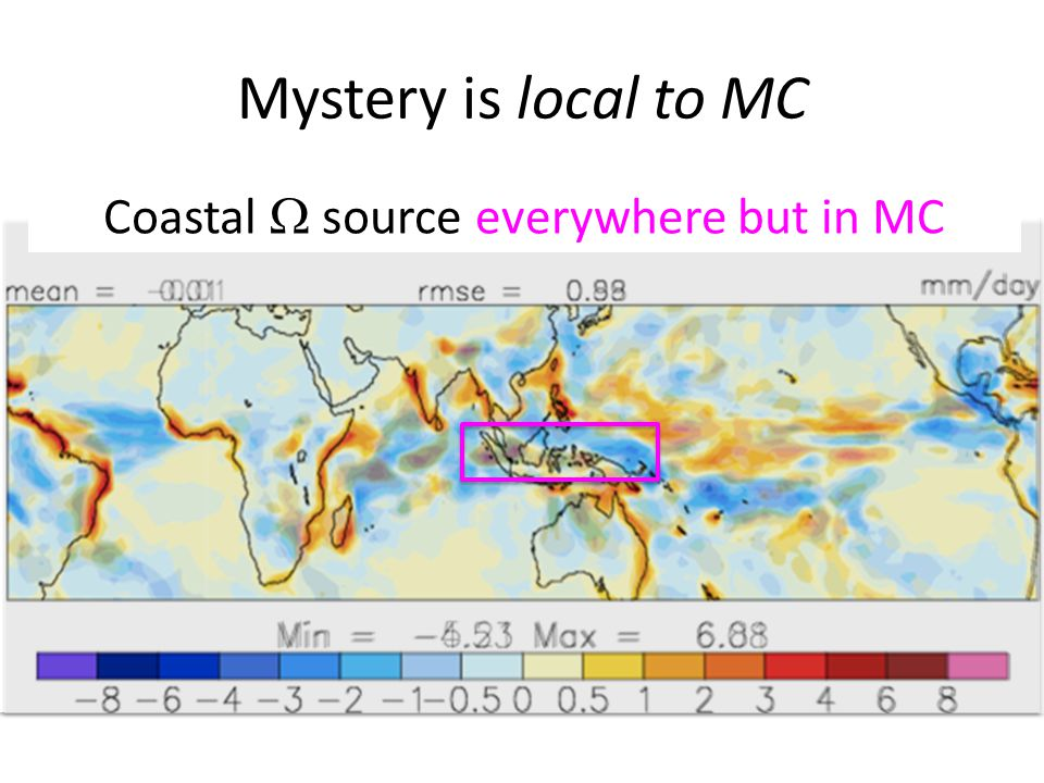 Mystery is local to MC Coastal  source everywhere but in MC