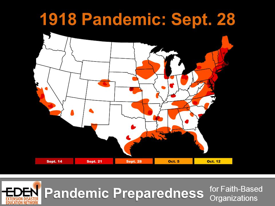 Pandemic Preparedness for Faith-Based Organizations 1918 Pandemic: Sept. 28