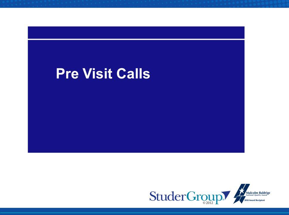 Pre Visit Calls
