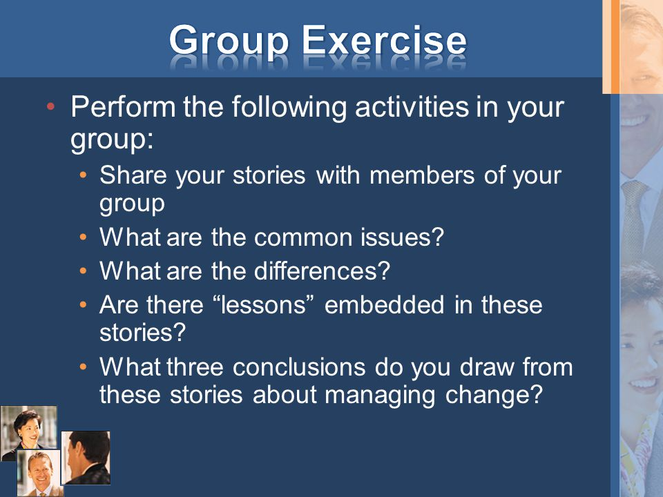 Take your group's stories from earlier in the day Which images of change did you come across.
