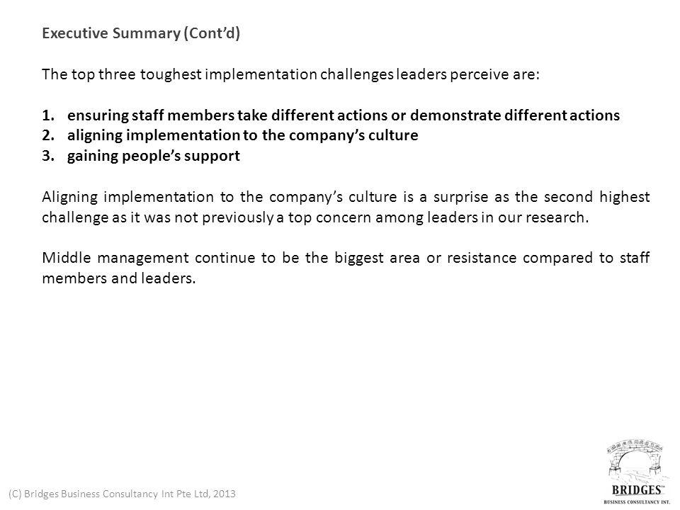 (C) Bridges Business Consultancy Int Pte Ltd, 2013 Strategy Implementation Survey Findings 2012