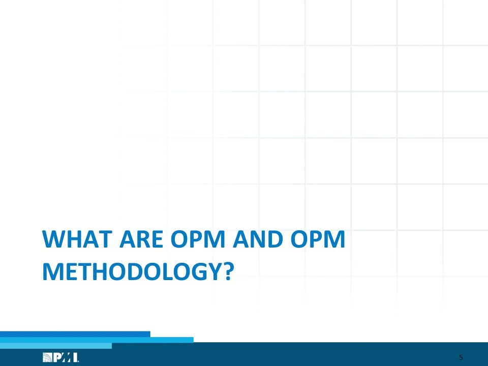 WHAT ARE OPM AND OPM METHODOLOGY 5