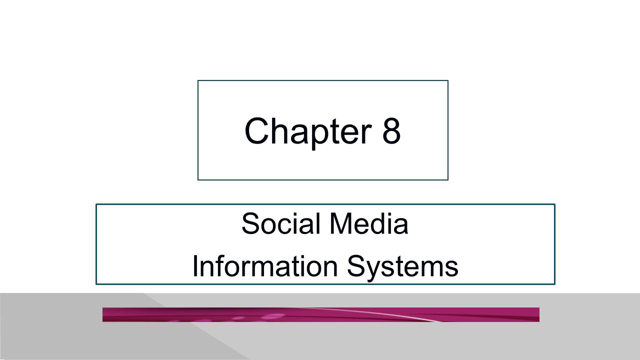 8-12 SMIS Is Not Free Costs to develop, implement, and manage social networking procedures.