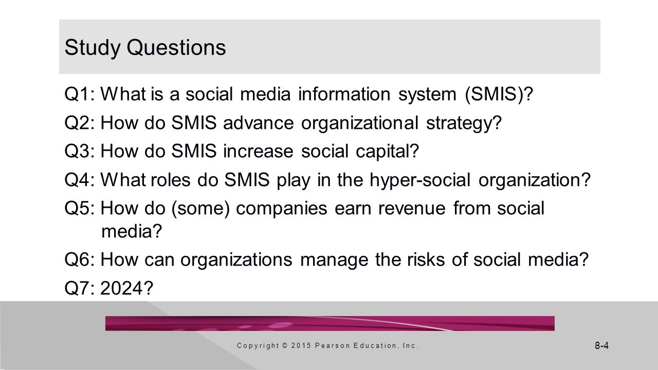 8-5 Q1: What Is A Social Media Information System (SMIS).