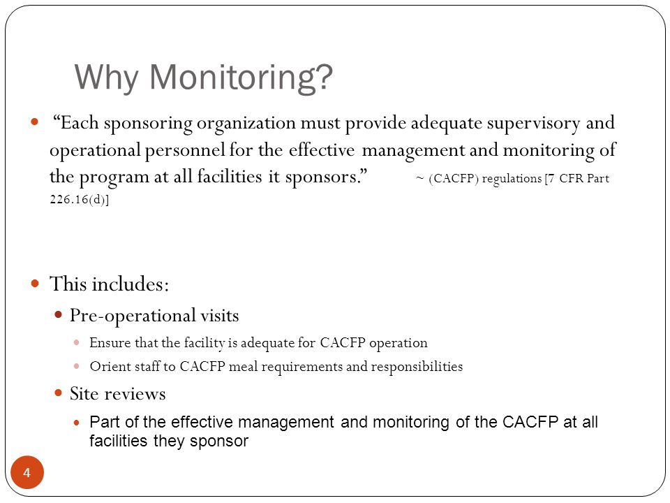 Why Monitoring.