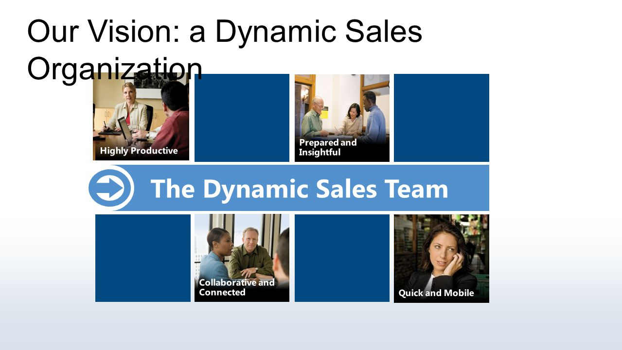 Our Vision: a Dynamic Sales Organization