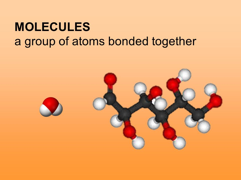 MOLECULES a group of atoms bonded together