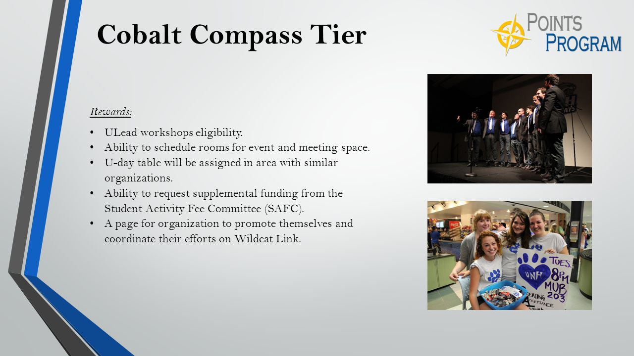 Cobalt Compass Tier Rewards: ULead workshops eligibility.