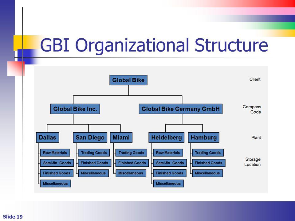 Slide 19 GBI Organizational Structure