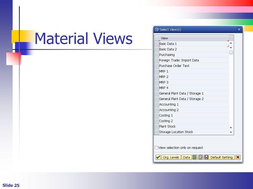 Slide 25 Material Views