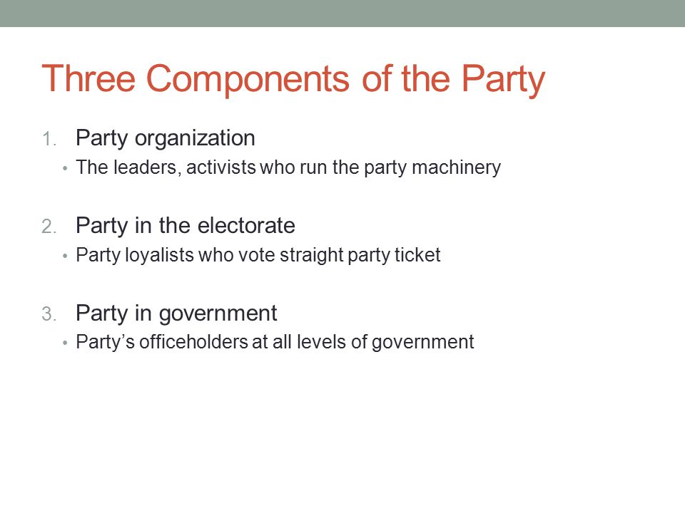 Three Components of the Party 1.