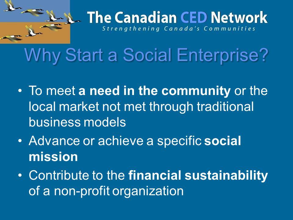 Why Start a Social Enterprise.