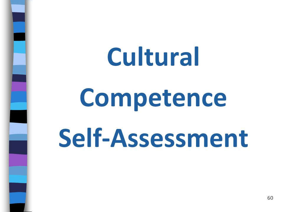 Cultural Competence Self-Assessment 60