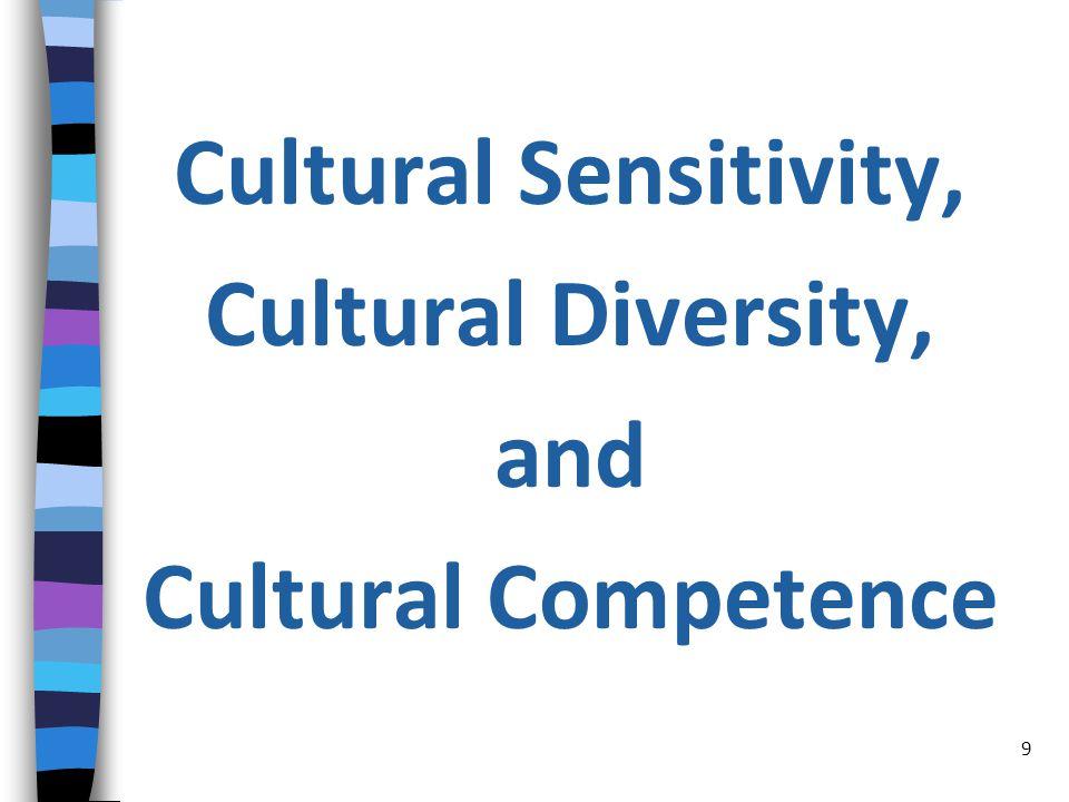 Cultural Sensitivity, Cultural Diversity, and Cultural Competence 9