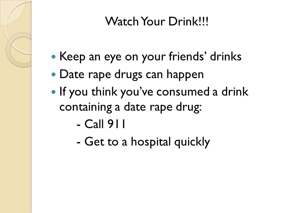 Watch Your Drink!!.