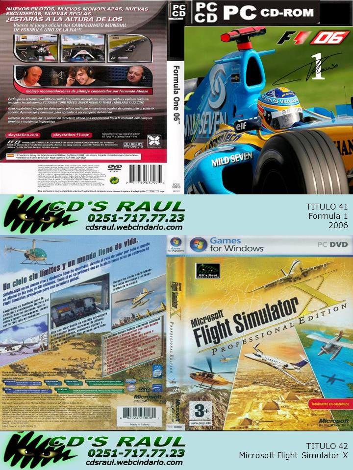 TITULO 42 Microsoft Flight Simulator X TITULO 41 Formula 1 2006