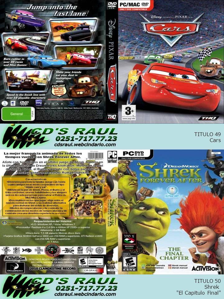 TITULO 50 Shrek El Capitulo Final TITULO 49 Cars