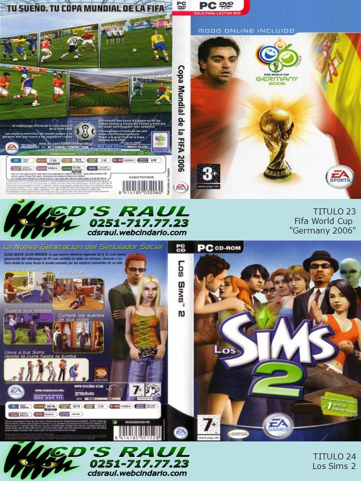 TITULO 24 Los Sims 2 TITULO 23 Fifa World Cup Germany 2006