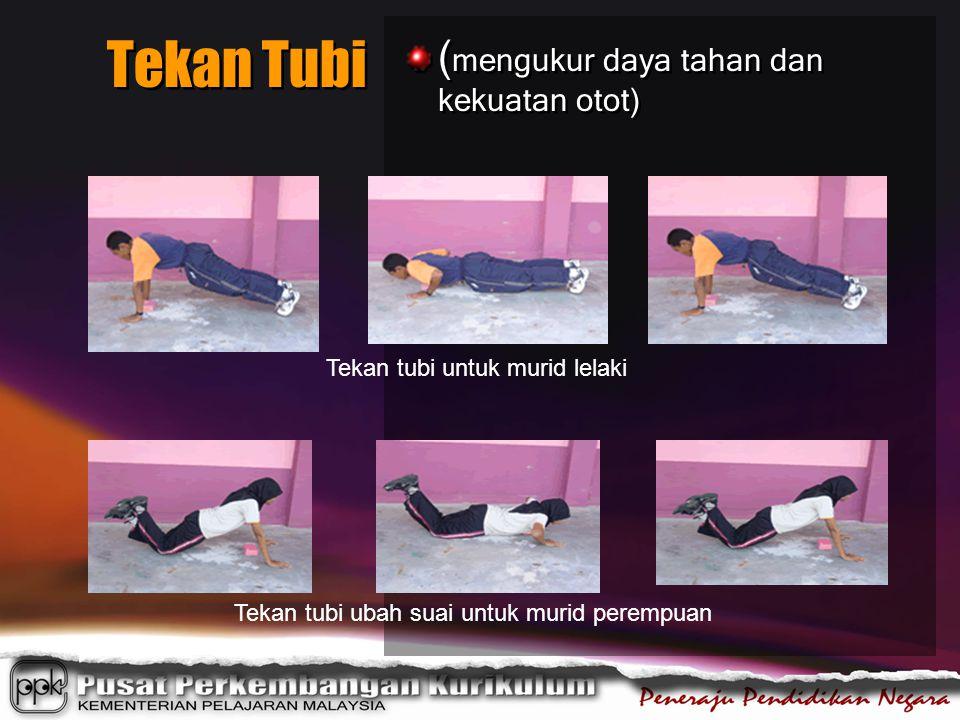 ( mengukur daya tahan dan kekuatan otot) Tekan Tubi Tekan tubi ubah suai untuk murid perempuan Tekan tubi untuk murid lelaki