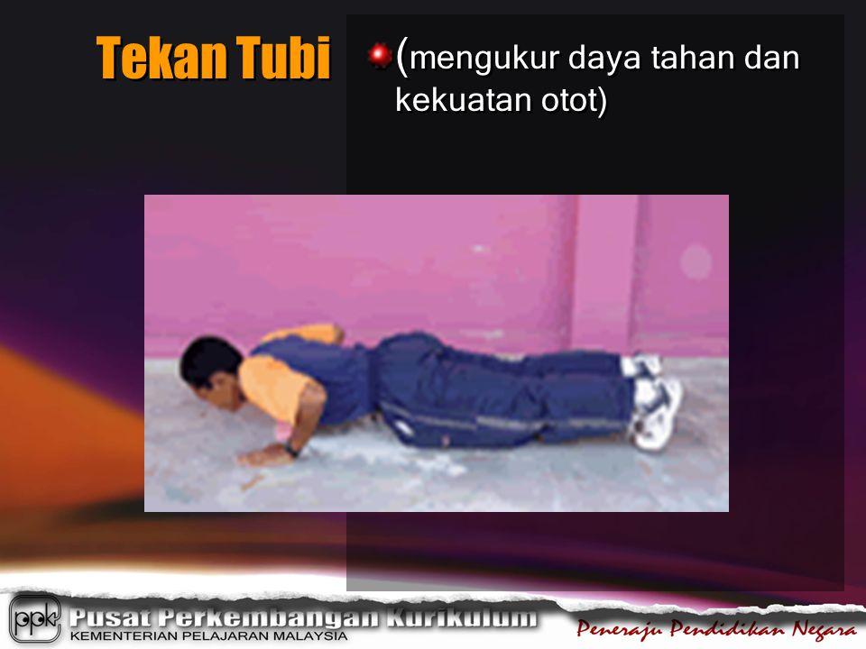Tekan Tubi ( mengukur daya tahan dan kekuatan otot)