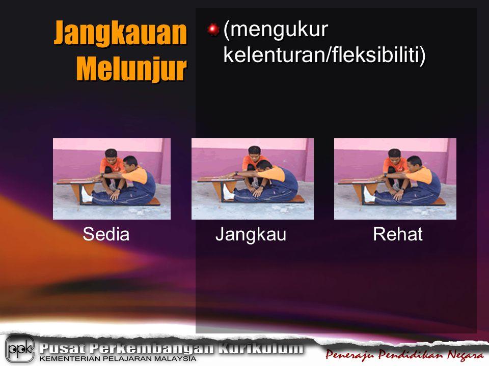 Jangkauan Melunjur (mengukur kelenturan/fleksibiliti) SediaJangkauRehat