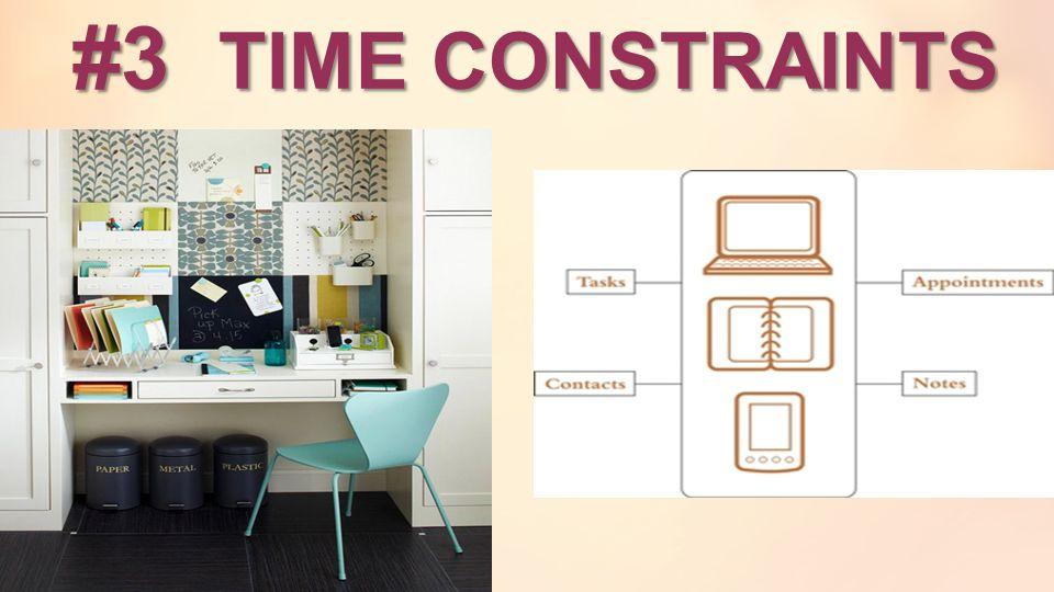 #3 TIME CONSTRAINTS #3 TIME CONSTRAINTS