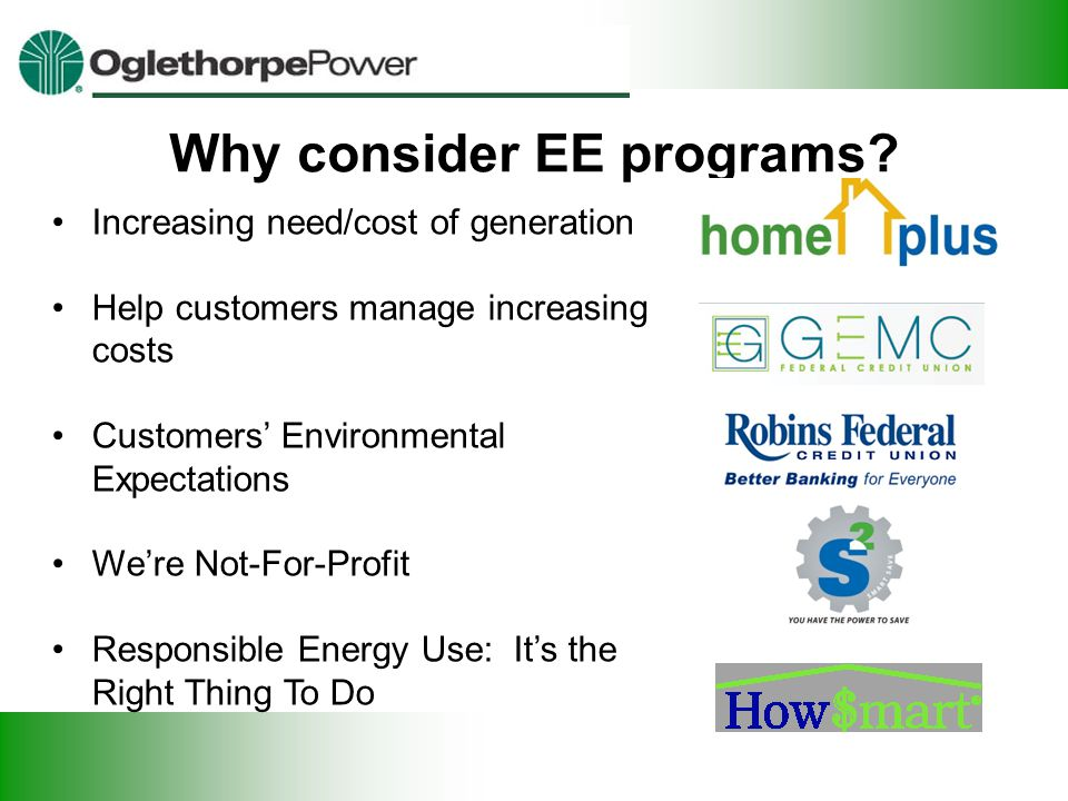 Why consider EE programs.