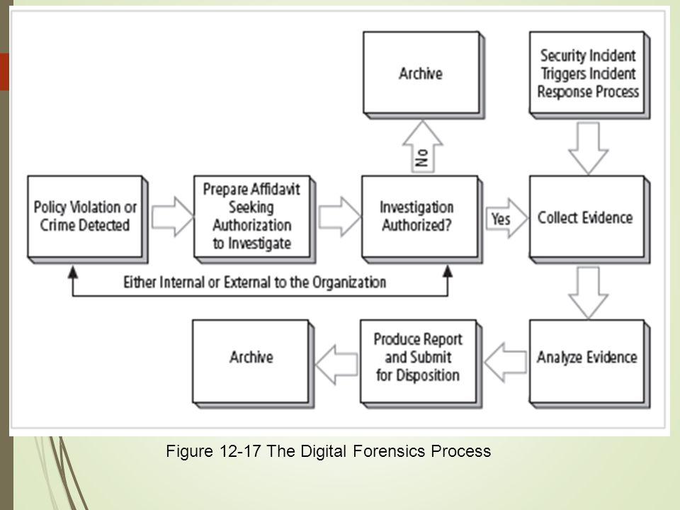 57 Figure 12-17 The Digital Forensics Process