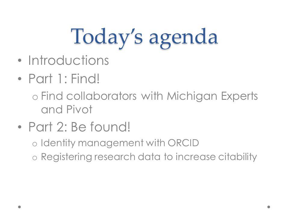 Discover Collaborators Michigan Experts Pivot