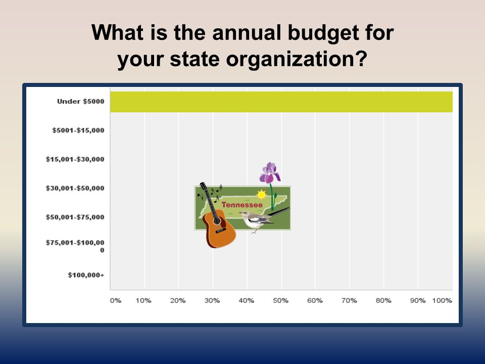 What is the annual budget for your state organization?
