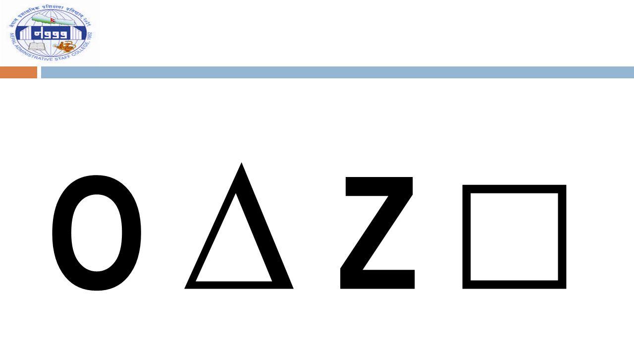 O ∆ Z □O ∆ Z □