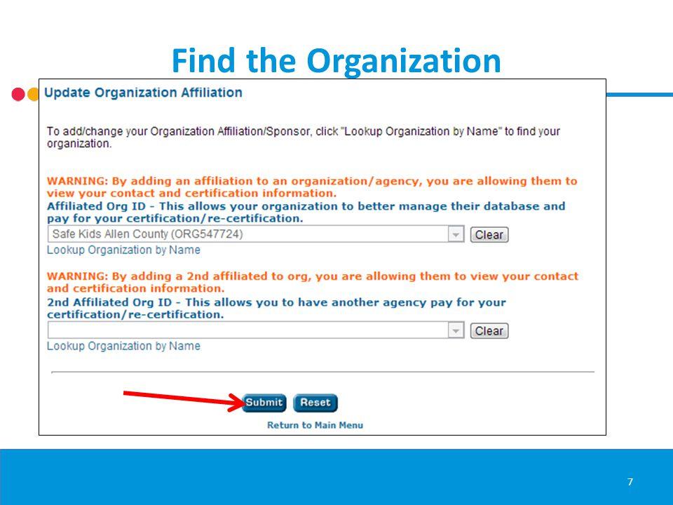 Affiliation Confirmation 8