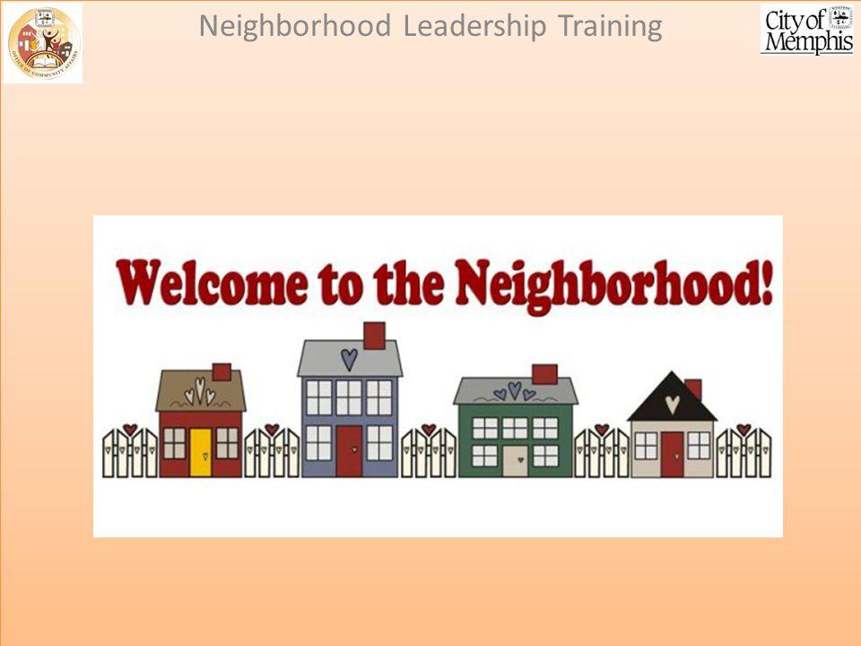 Neighborhood Associations 101: Neighborhood Leadership Training