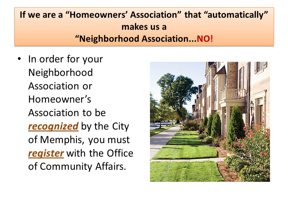 The Importance of Neighborhood Associations Neighborhood Associations are vital to the community.