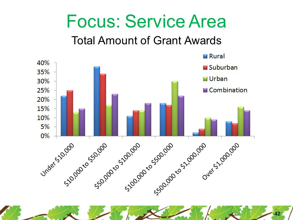 Focus: Service Area 42 Total Amount of Grant Awards