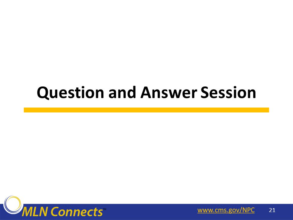 Question and Answer Session 21