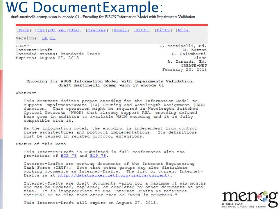 10 WG DocumentExample: