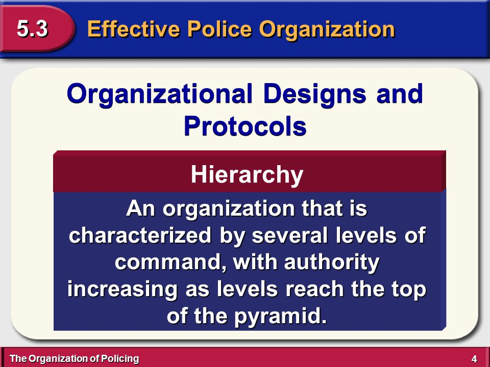 End of Section 5.3 Effective Police Organization End of Section 5.3 Effective Police Organization